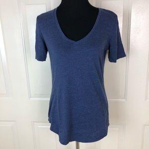 Victoria's Secret Blue V-neck Short Sleeve Top